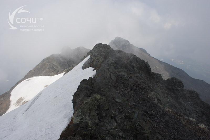 Хребет Псехако - Первый и Второй притоки реки Пслух-гора Псеашхо Южный-перевал Псеашхо
