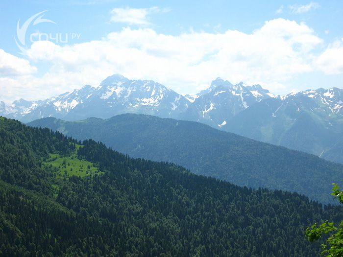 Хребет Псехако - гора Табунная-долина Псеашхо - гора Бзерпи